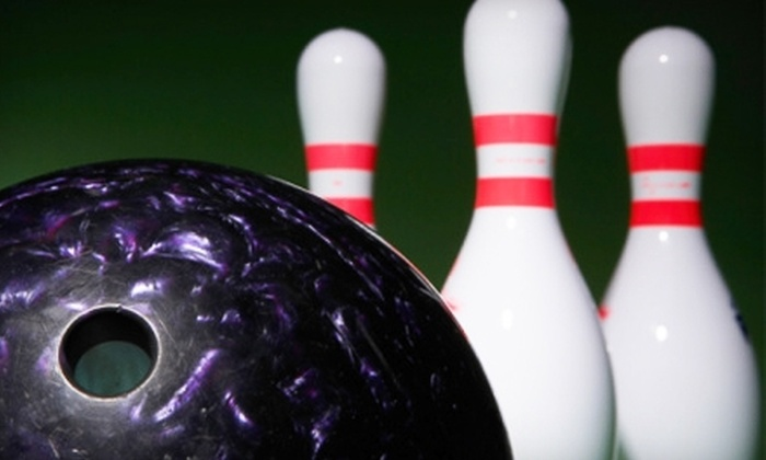The Sports & Social Club - Central Business District: Bowling for Four, Shoe Rental, and Pizza at The Sports & Social Club. Two Options Available.