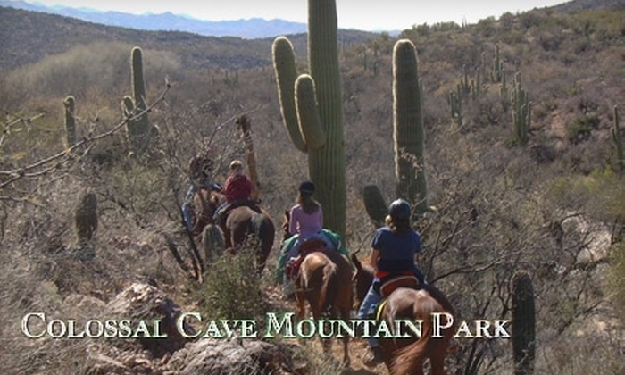 Bandit Outfitters - Mountain Creek Ranch: $22 for a 90-Minute Sunset Trail Ride at Bandit Outfitters' Colossal Cave Mountain Park Riding Stables ($42 Value)
