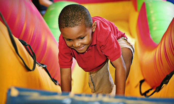 Mighty Jumps Party and Play Center - Buckhead: One-Month Unlimited Jump Pass or a Birthday Party for Eight Kids at Mighty Jumps Party and Play Center (Up to 60% Off)