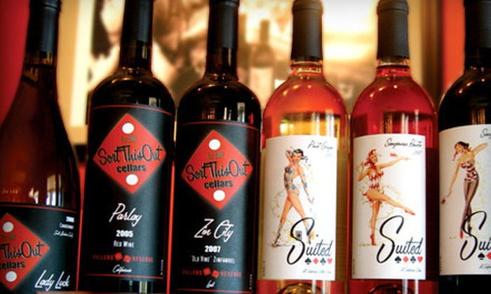 Sort This Out Cellars - Downtown Solvang: $22 for a Wine Tasting for Two and One Take-Home Bottle at Sort This Out Cellars in Solvang (Up to $45 Value)
