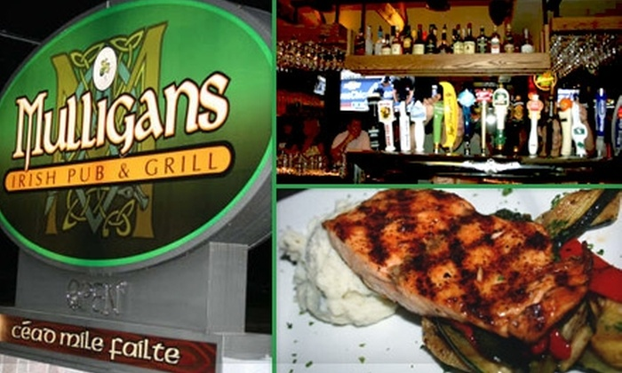 Mulligans Irish Pub & Grill - Franklin: $10 for $20 Worth of Pub Fare and Pints at Mulligans Irish Pub & Grill