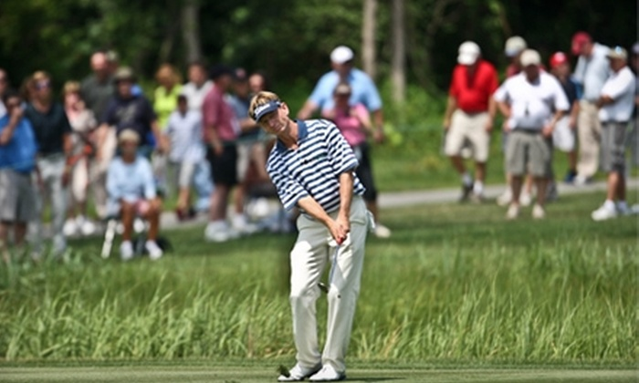 CVS Caremark - Barrington: $52 for Two Wine Pavilion Tickets and Parking for One-Day Admission to the CVS Caremark Charity Classic PGA Challenge Event at Rhode Island Country Club in Barrington