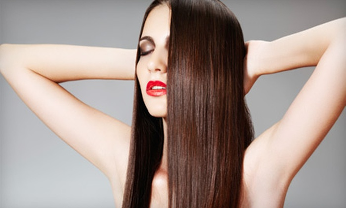 Whip Salon & Spa - Downtown Vancouver: Hair Retexturizing and Straightening Package or Glossing and Style Package at Whip Salon and Spa