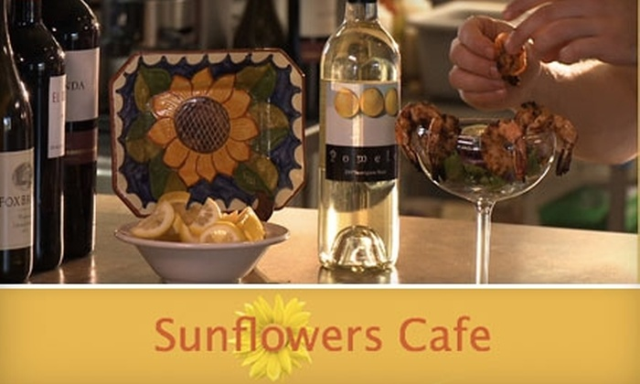 Sunflowers Café - Central Raleigh: $10 for $25 Worth of Tasty Seafood, Vegetarian Dishes, Drinks, and More at Sunflowers Café