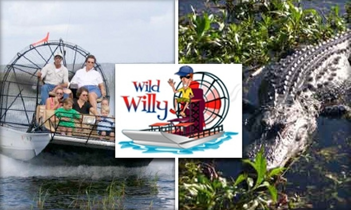 Wild Willy's Airboat Tours - Kissimmee Park: $17 for a One-Hour Airboat Tour from Wild Willy's Airboat Tours ($35 Value)