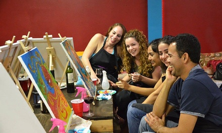 BYOB Painting Class for One, Two, or Four at Paint 'n Hang (Up to 50% Off)