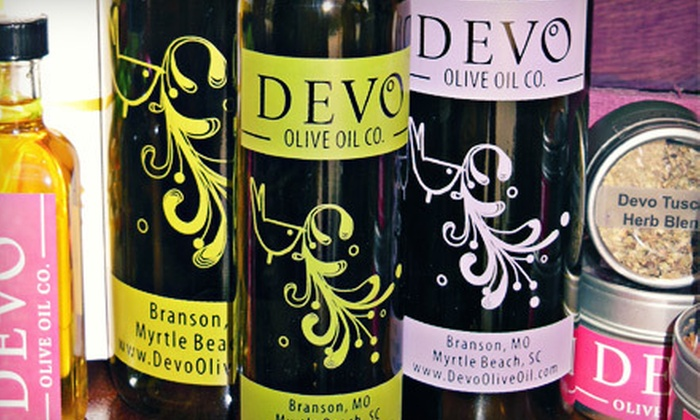 Devo Olive Oil: Artisan Olive Oils, Vinegars, and Specialty Grocery Items from Devo Olive Oil (Up to 55% Off). Two Options Available.