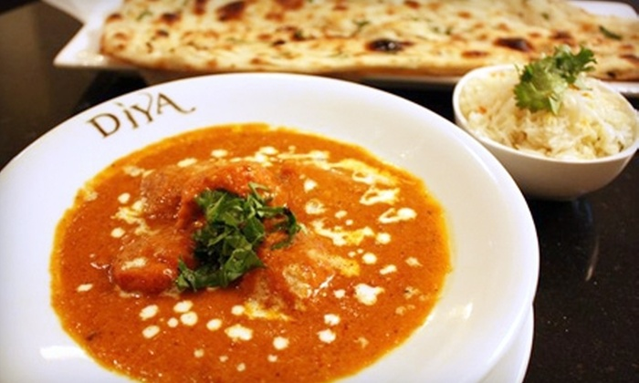 Diya Restaurant, Lounge & Banquet - Tysons Central 7: Indian Cuisine at Diya Restaurant, Lounge & Banquet (Half Off). Two Options Available.