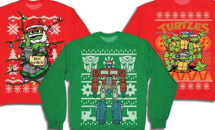 Teenage Mutant Ninja Turtles, Transformers, or Oscar the Grouch Ugly Christmas Sweatshirts