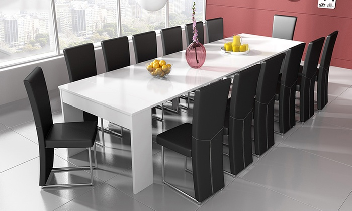 Console extensible groupon shopping for Table extensible jusqu a 14 personnes