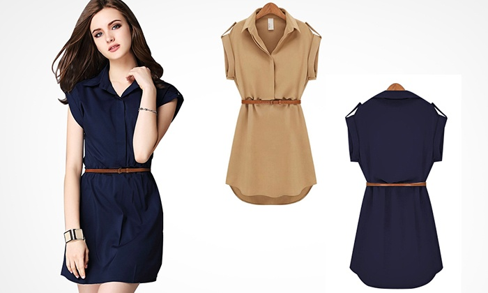 13bbc2465d1 Ladies  Collared Shirt Dress