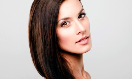 Single-Process Color, Partial Highlights, or Cut with Conditioning and Blow Dry at L'Rose Salon (Up to 65% Off)