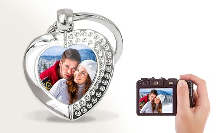 Photo Heart Crystal Key Rings from Printerpix