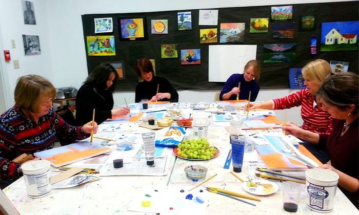 The Creative Child and Adult Arts Program - Scarborough: $20 for a BYOB Wine and Paint Night at The Creative Child and Adult Arts Program ($40 Value)