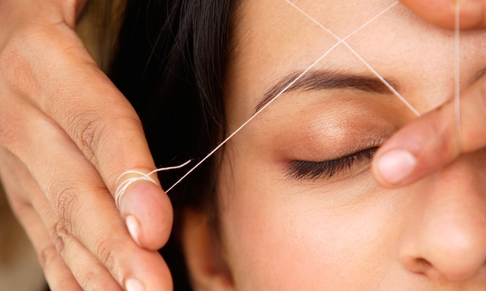 Threading Place - Multiple Locations: Eyebrow-Threading Session  at Threading Place (45% Off)