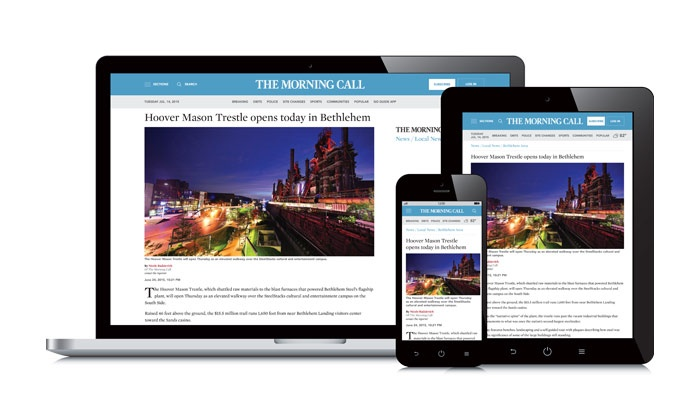 """Morning Call: One-Year or Two-Year Unlimited Digital Access Subscription to the """"The Morning Call"""" (76% Off)"""