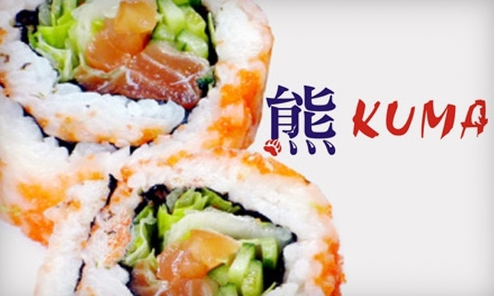 Kuma Japanese Steakhouse - McDonough: $10 for $25 Worth of Hibachi Fare, Sushi, and Drinks at Kuma Japanese Steakhouse in McDonough