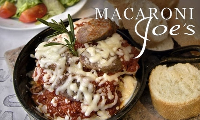 Macaroni Joe's - Amarillo: $10 for $20 Worth of Elegant Italian Fare at Macaroni Joe's