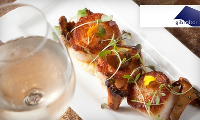 Gibraltar - Lancaster: $25 for $50 Worth of Fine Cuisine for Dinner or $10 for $20 Worth of Lunch Fare at Gibraltar