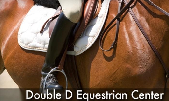 Double D Equestrian Center - Louisburg: $15 for One Horseback-Riding Lesson or $49 for Four Horseback-Riding Lessons at Double D Equestrian Center