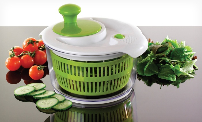 Salad Spinner with Storage Lid: 1.5- of 3-Qt. Salad Spinner with Storage Lid.