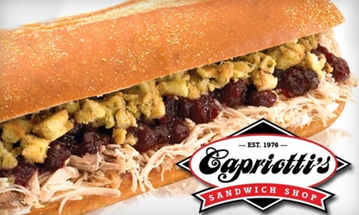 Capriotti's Sandwich Shop - Multiple Locations: $10 for $20 Worth of Classic Subs at Capriotti's Sandwich Shop