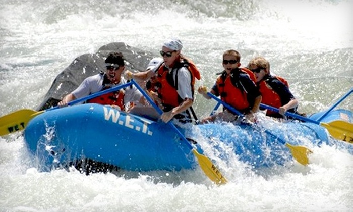 W.E.T. River Trips - North El Dorado: Whitewater-Rafting Trip from W.E.T. River Trips in Lotus. Choose Between Two Options.