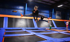 Sky Zone - Mount Sinai: Two One-Hour Jump Passes or 10 drop-in SkyFit classes at Sky Zone (Up to 47% Off). Two Options Available.