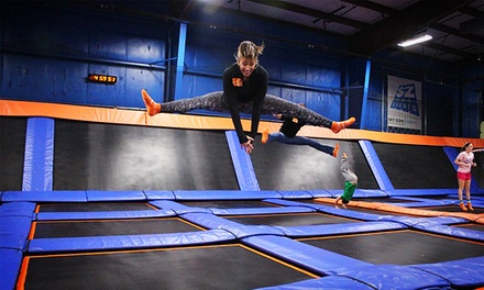 Two One-Hour Jump Passes or 10 drop-in SkyFit classes at Sky Zone (Up to 47% Off). Two Options Available.