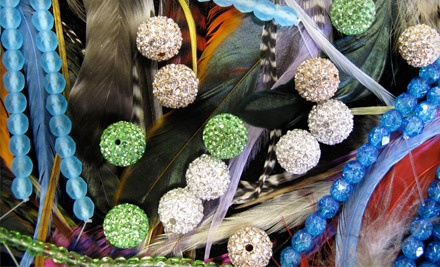 90-Min. Feather Jewelry Class, Including Materials (a $30 value) - Island Bead & Jewelry in Eastport