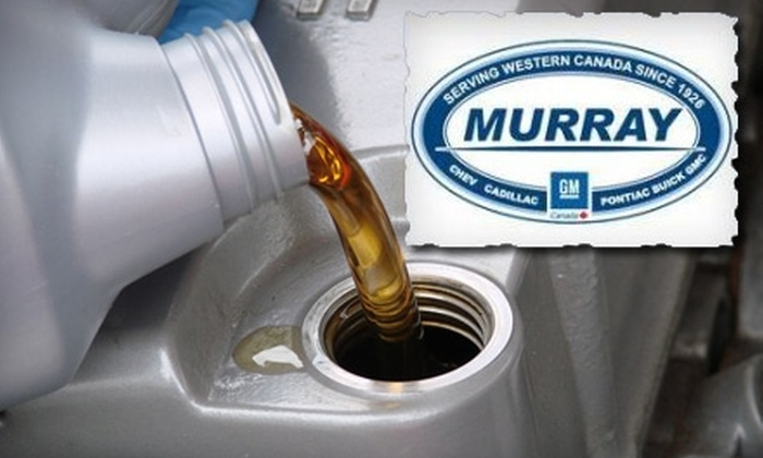 Murray GM Abbotsford - Abbotsford: $24 for Conventional Lube, Oil, and Filter Service at Murray GM Abbotsford ($50 Value)