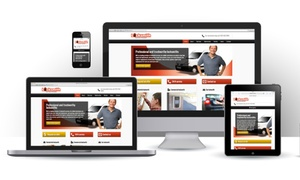 Admen Agency: Website Design and Development with Email Addresses from Admen Agency, Two Options Available (98% Off)