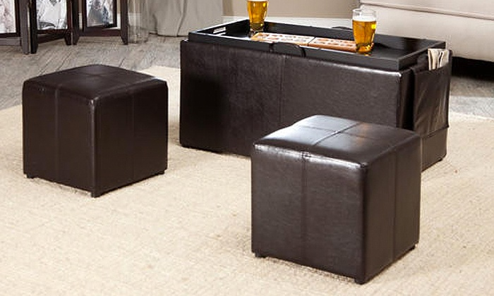 Groupon Goods: Three-Piece Coffee Table Storage Ottoman Set for R1 545 Including Delivery (61% Off)