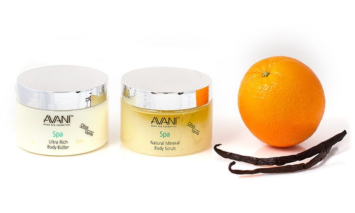 Avani Citrus-Vanilla Body Butter and Body Scrub Set