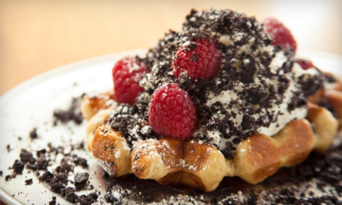 Zinneken's - Riverside: $15 for Four Groupons, Each Good for $7.50 Worth of Belgian Waffles at Zinneken's ($30 Total Value)