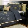 Embroidered Floral 8-Piece Comforter Set