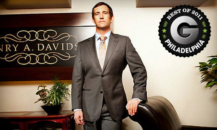 Henry A. Davidsen - Rittenhouse: Custom Suit or Shirt Package at Henry A. Davidsen (Up to 54% Off). Three Options Available.