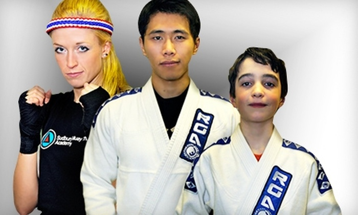 Sudbury Brazilian Jiu-Jitsu and Muay Thai Academy - Sudbury: $20 for One-Month Membership to Sudbury Brazilian Jiu-Jitsu and Muay Thai Academy ($90 Value)