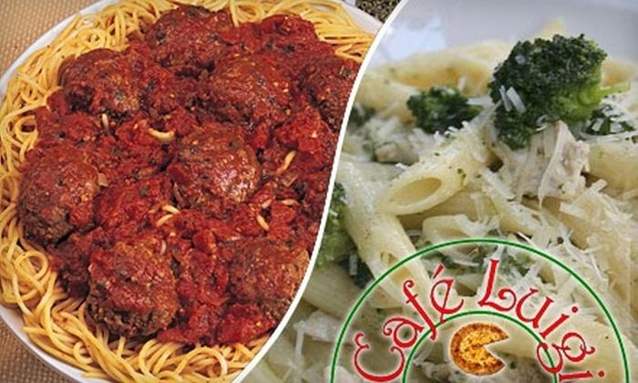 Café Luigi - Birmingham: $8 for $20 Worth of Casual Italian Fare at Café Luigi