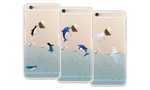 iPM Flexible Case for iPhone 6/6+: iPM Splish Splash Swimming Animals Flexible Case for iPhone 6/6+