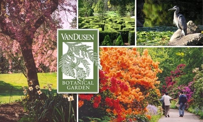 Vandusen Botanical Garden   Shaughnessy: $36 For A One Year Family  Membership At VanDusen