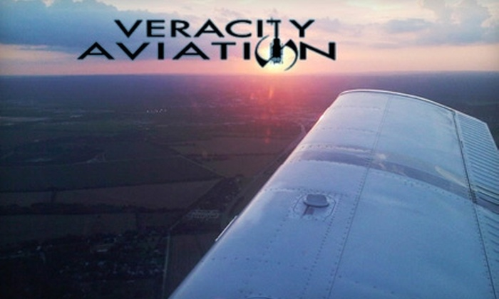 Veracity Aviation - New Braunfels: $69 for an Airplane Discovery Flight Lesson from Veracity Aviation ($149 Value)