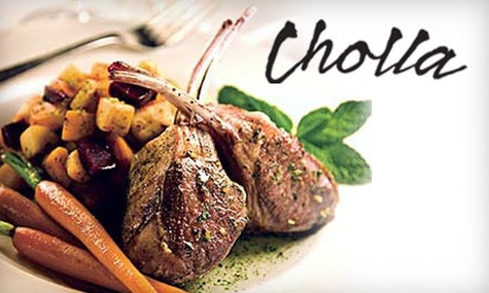 Cholla Prime Steakhouse & Lounge - Phoenix: $25 for $50 Worth of Fine Dining and Premium Cuts at Cholla Prime Steakhouse & Lounge