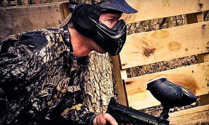 BlastZone Paintball - Madison: Paintball Outing with Admission and Equipment for 2, 4, 6, or 12 at BlastZone Paintball in Middletown (Up to 81% Off)