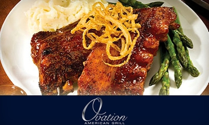 Ovation American Grill - Glendale: $15 for $30 Worth of American Fare and Drinks at Ovation American Grill in Glendale