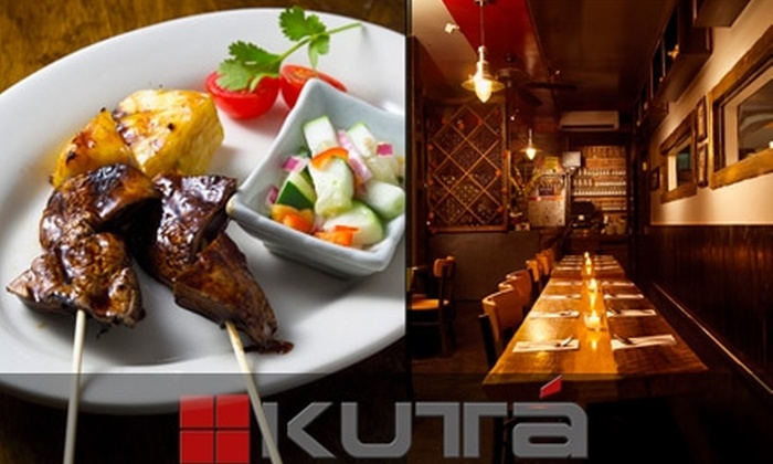 Kuta Satay House - Bowery: $20 for $40 Worth of Indonesian Fusion Fare and Drinks at Kuta Satay House