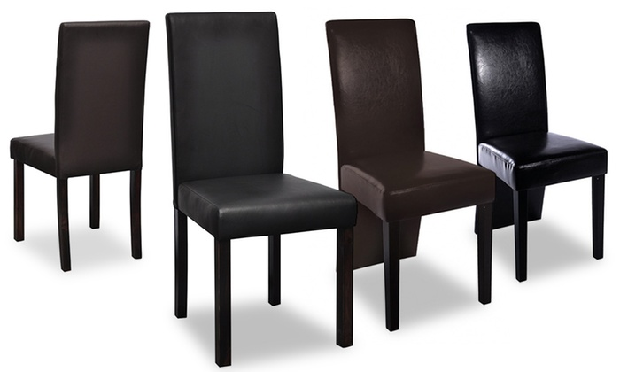esszimmerst hle im leder look groupon goods. Black Bedroom Furniture Sets. Home Design Ideas