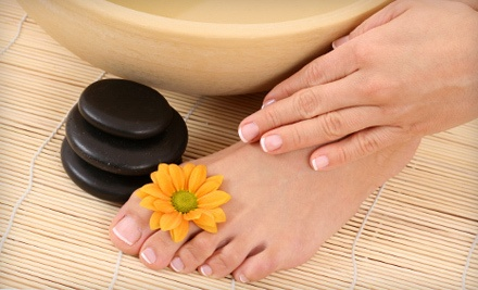 2 Hot-Stone Pedicures (a $96 value) - Nails by Carlene in Chattanooga