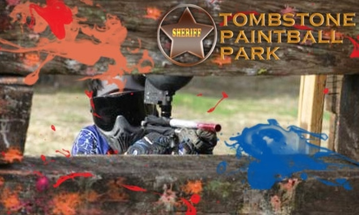 Tombstone Paintball Park - Agua Mansa Industrial Corridor: $30 for Full-Day Entry, Gun, Mask, Air, and 100 Paintballs at Tombstone Paintball Park ($62 Value)