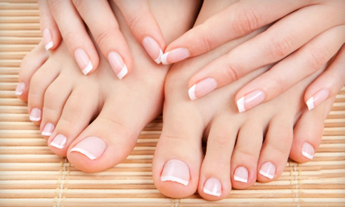 Renew Beauty Med Spa - Multiple Locations: Spa Manicure and Pedicure or Custom Facial at Renew Beauty Med Spa (Up to 67% Off)
